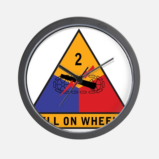 2nd Armored Div Wall Clock