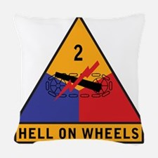 2nd Armored Div Woven Throw Pillow