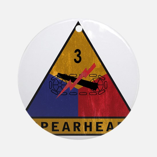 3rd Armored Div Vintage Round Ornament