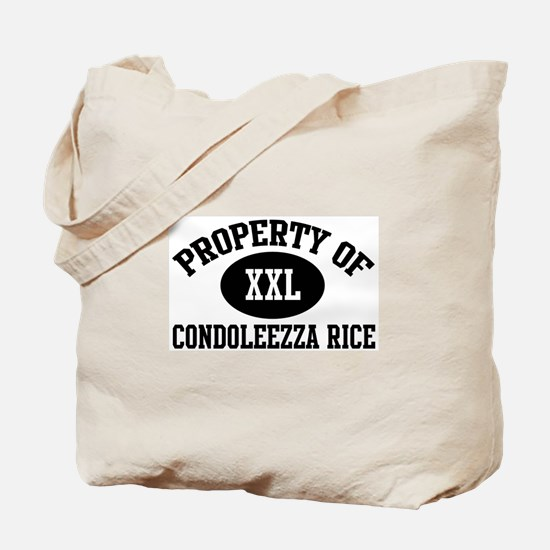 Property of Condoleezza Rice Tote Bag