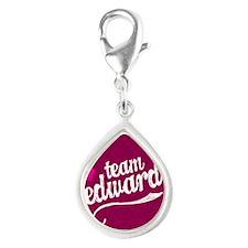 Team Ed Pink iPad Sleeve Silver Teardrop Charm