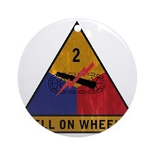 2nd Armored Div vintage Round Ornament
