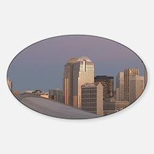 Calgary: City Skyline from Ramsay A Sticker (Oval)