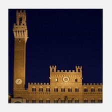 Sienna. Torre del Mangia in the Piazz Tile Coaster