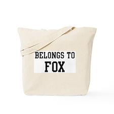 Belongs to Fox Tote Bag