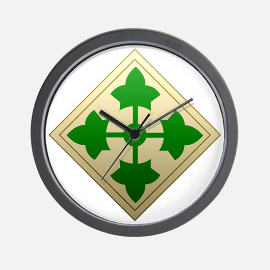 4th infantry div Wall Clock