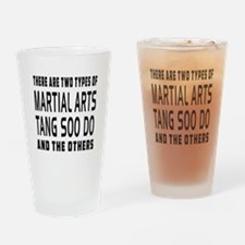 Tang Soo do Designs Drinking Glass