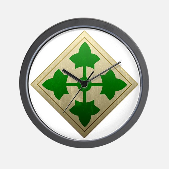 4th infantry div - Vintage Wall Clock