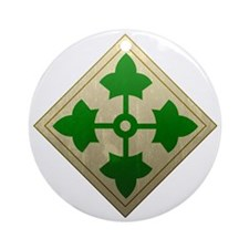 4th infantry div - Vintage Round Ornament