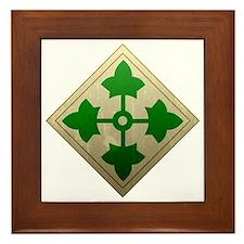 4th infantry div - Vintage Framed Tile