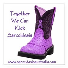 """Together We Can Kick Sar Square Car Magnet 3"""" x 3"""""""