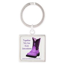 Together We Can Kick Sarcoidosis Square Keychain