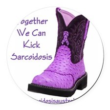 Together We Can Kick Sarcoidosis Round Car Magnet