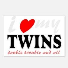 I heart my twins Postcards (Package of 8)