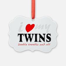 I heart my twins Ornament