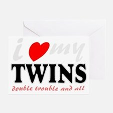 I heart my twins Greeting Card