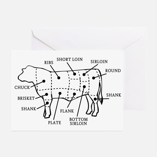 Beef Cow Greeting Cards (Pk of 10)