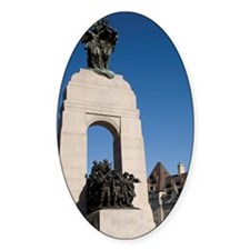 War memorial with Chateau Laurier H Decal