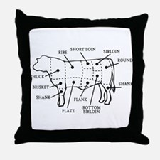 Beef Cow Throw Pillow