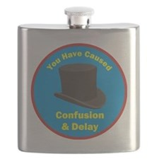 topham hat. Flask