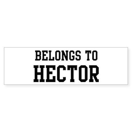 Belongs to Hector Bumper Sticker