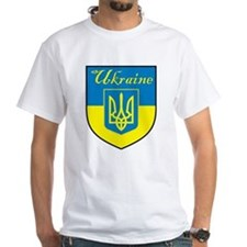 Ukraine Flag Crest Shield Shirt