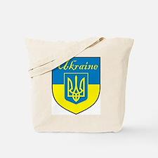 Ukraine Flag Crest Shield Tote Bag