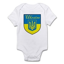 Ukraine Flag Crest Shield Infant Bodysuit