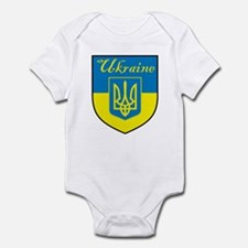 Ukraine Flag Crest Shield Infant Bodysuit