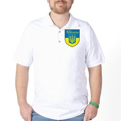 Ukraine Flag Crest Shield T-Shirt