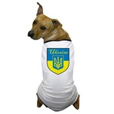 Ukraine Flag Crest Shield Dog T-Shirt