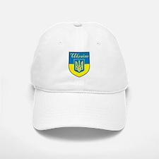 Ukraine Flag Crest Shield Baseball Baseball Cap