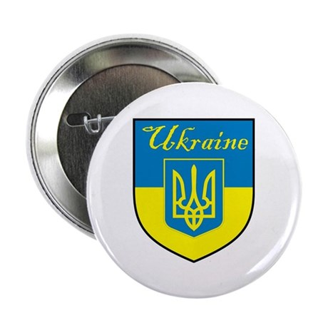 "Ukraine Flag Crest Shield 2.25"" Button (100 pack)"