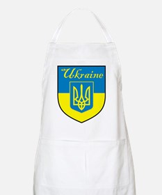Ukraine Flag Crest Shield BBQ Apron