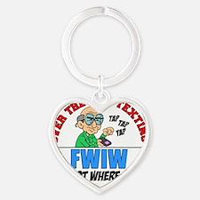 FWIW Heart Keychain