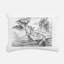 Butterfly kisses Rectangular Canvas Pillow