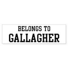 Belongs to Gallagher Bumper Bumper Sticker