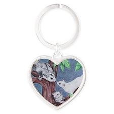 trio Heart Keychain
