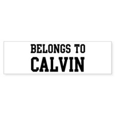 Belongs to Calvin Bumper Bumper Sticker