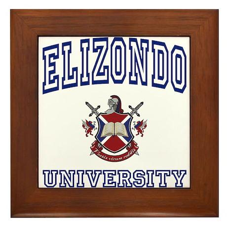 ELIZONDO University Framed Tile