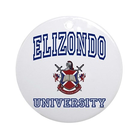 ELIZONDO University Ornament (Round)