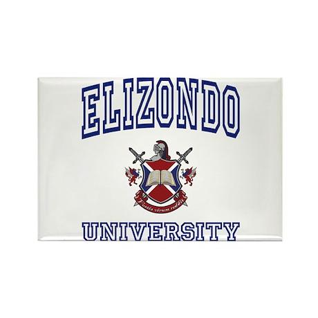 ELIZONDO University Rectangle Magnet