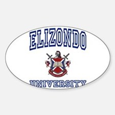 ELIZONDO University Oval Decal