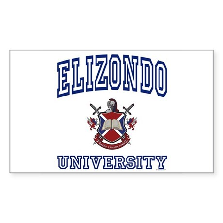 ELIZONDO University Rectangle Sticker