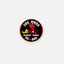 DD-880 A USS DYESS Destroyer Ship Mili Mini Button