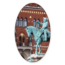 Equestrian statue with Magnus Gusta Decal