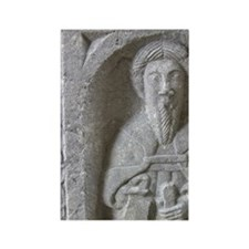 Medieval stone carving at Jerpoin Rectangle Magnet