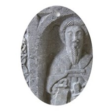 Medieval stone carving at Jerpoint A Oval Ornament
