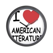 AMERICANLITERATURE Wall Clock