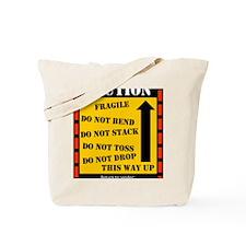 cautionwishboneday Tote Bag
